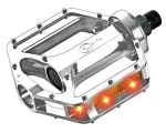 SM-299-Silver No battery Flash LED  Pedal